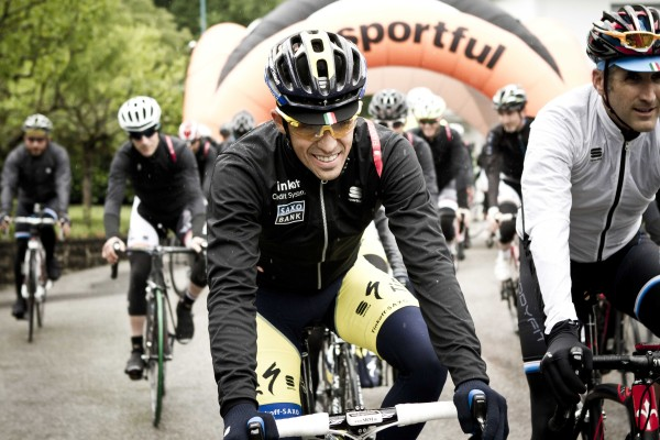 Rolling out with Sportful brand manager Steve Smith