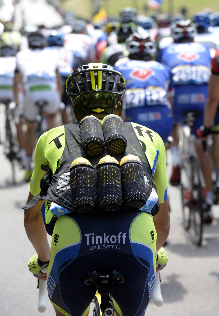 The 'Bottle Vest' Tour de France 2014