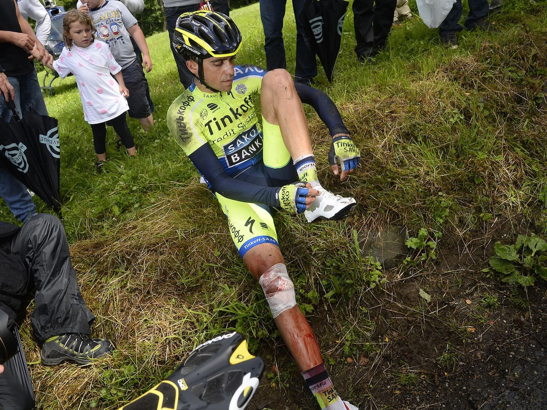 Contador's crash