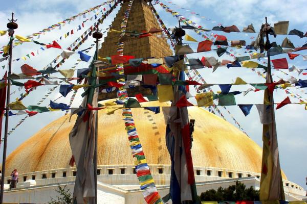 stipa di  boudnath a kathmandu