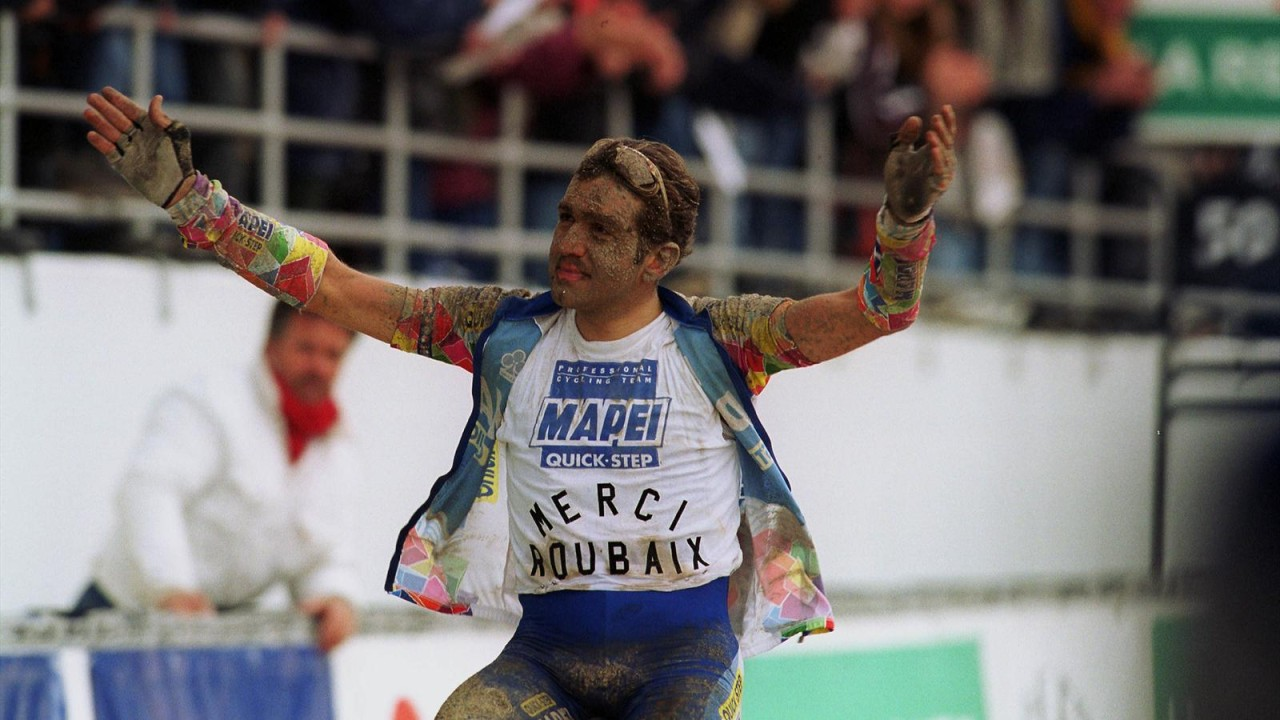 Ballerini says 'Merci Roubaix' in 2001