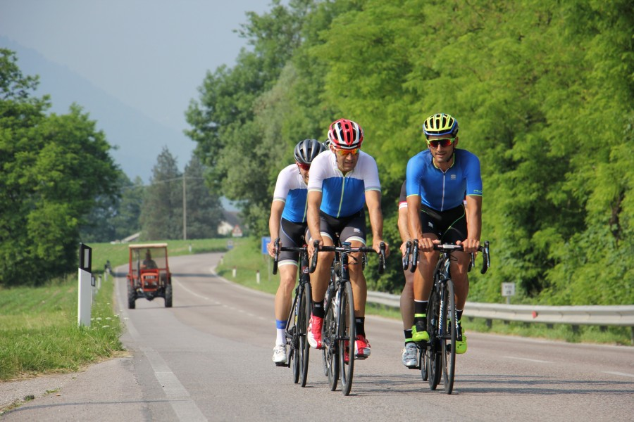Pedalling out of Feltre