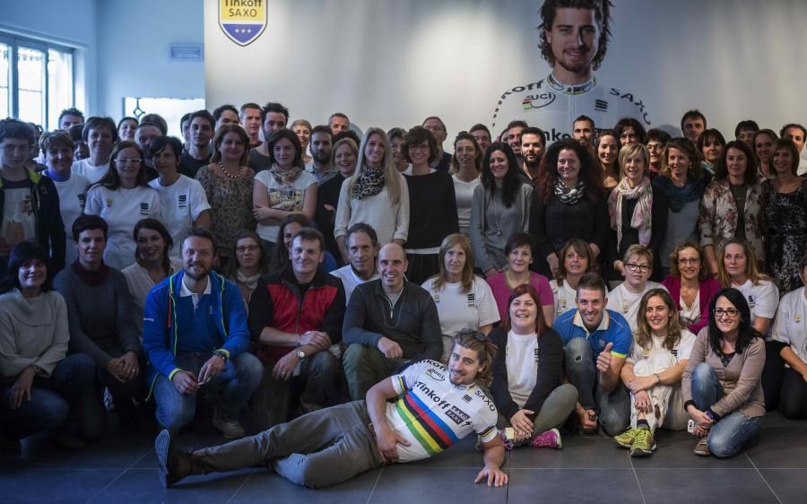 Sagan and the Sportful staff