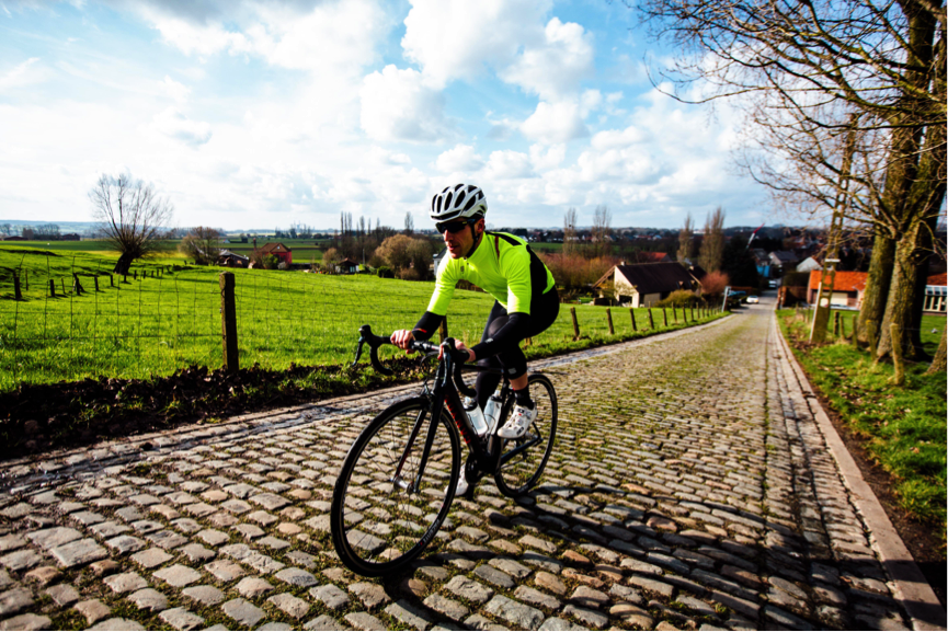 Unlike the pro's who'll be jostling for position prior to the climb; our approach to the Koppenberg was tourist like.