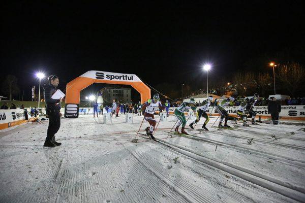 Partenza semifinale maschile - Campionati Italiani Assoluti Sprint Pra' del Moro