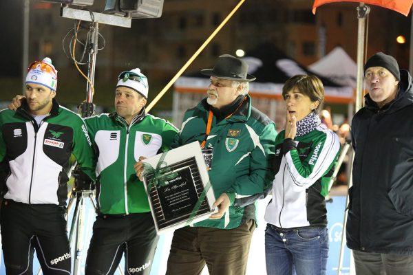 La premiazione del gruppo Forestale - Campionati Italiani Assoluti Sprint Pra' del Moro